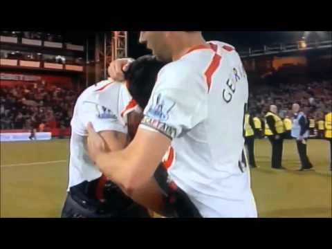 Luis Suarez crying / Steven Gerrard slips / Liverpool lost the EPL Title 2014