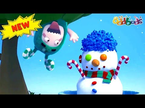 Oddbods | Zee, The Snowman | Funny Cartoons For Kids