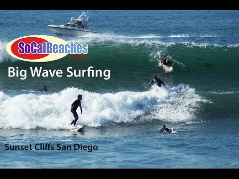 Big Wave Surfing Highlights San Diego from Sunset Cliff's