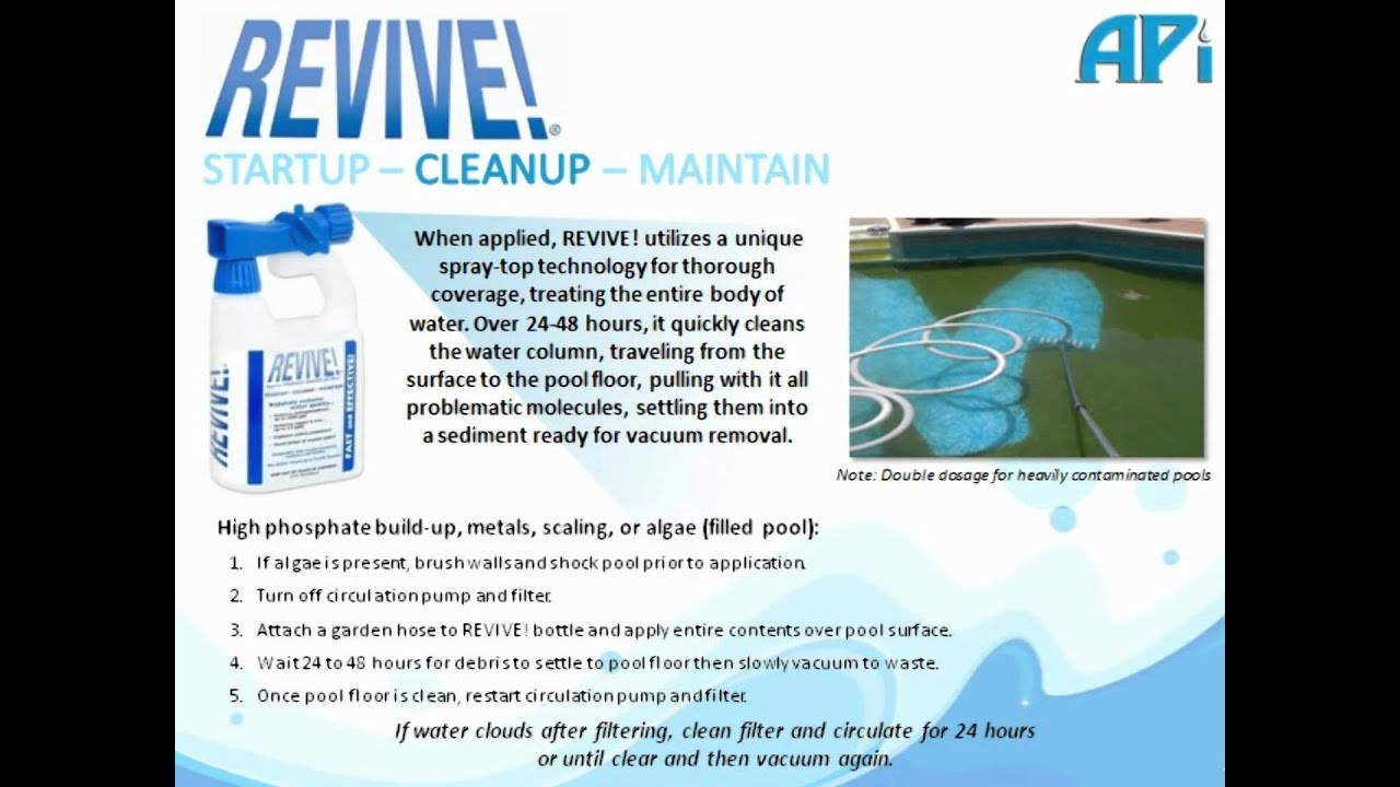 Revive The New Revolution In Pool Water Care Clears