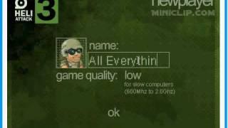 Heli Attack 3: Cheat Codes