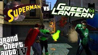 GTA IV Green Lantern Mod + Superman Mod Green Lantern