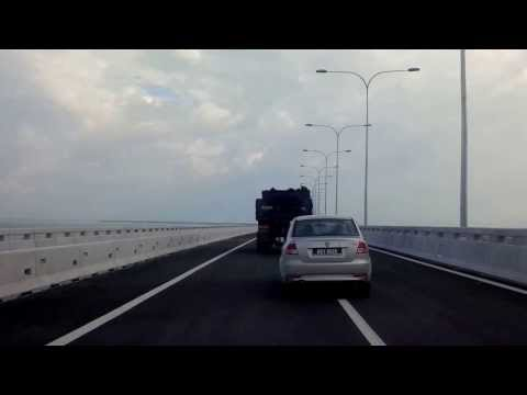 Ride through Penang Second Crossing - Part One. From Batu Maung to Batu Kawan