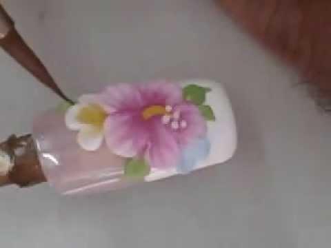 สอนทำเล็บ ลายปั้นนูนดอกไม้ปลายขาว  3D flower nails design
