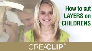 How To Cut LAYERS On CHILDRENS Hair Tutorial! Layered