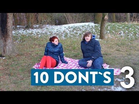 10 Dont's tijdens een romantisch afspraakje.