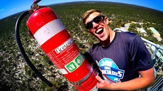 DODGING HEAVY STUFF from 45m TOWER with RC CARS!! (ROUND 2)