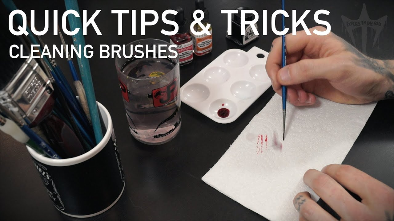 Quick tips and tricks brush cleaning watercolour inks for Watercolour tips and tricks