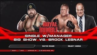 WWE 2K14 Brock Lesnar Vs The Big Show Royal Rumble