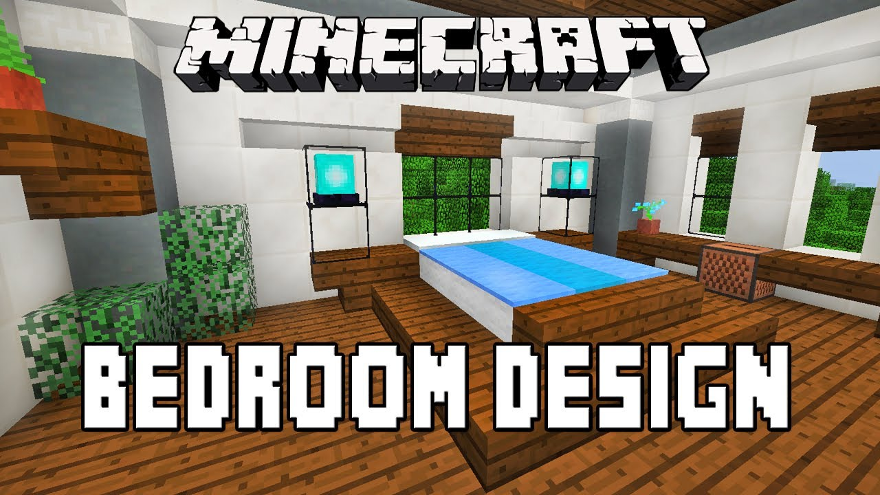Minecraft tutorial how to make a modern bedroom design for Nice bedroom designs minecraft
