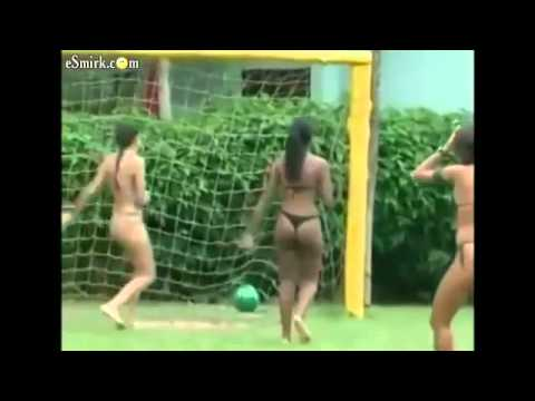 Girls in Thongs Playing Soccer