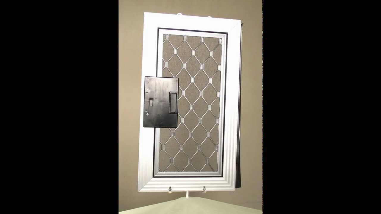 Security sliding patio screen door youtube for Security patio screen doors