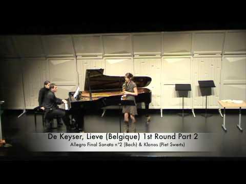 De Keyser, Lieve (Belgique) 1st Round Part 2