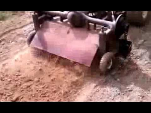 Tow behind tiller PREPPER 4 foot wide 11 hp rotary plow  homemade self powered