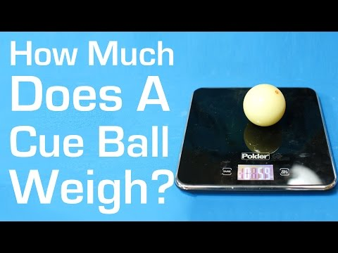 How Much Does A Cue Ball Weigh?