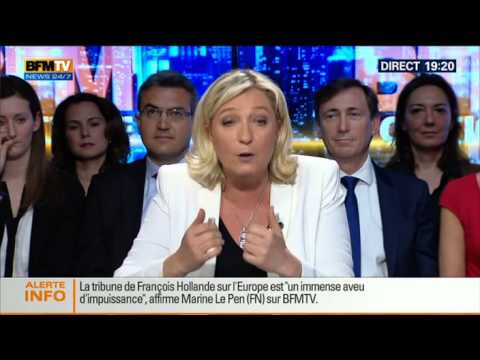 BFM Politique: L'interview de Marine Le Pen par Apolline de Malherbe - 11/05 4/6
