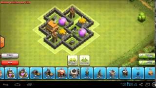 Clash Of Clans- Layout Centro De Vila Nível 4 ( Hibrido