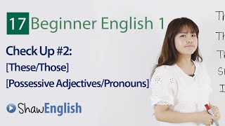 Grammar Check Up 2, Beginner 1, Lesson 17