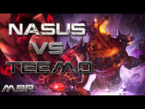 Infernal Nasus Vs Teemo Top Lane - Season 4 League of Legends Gameplay - HD