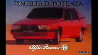 Alfa Romeo 75 - TV Commercial RAI2 (1987)