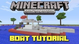 Minecraft Xbox 360: How To Make A Fishing Boat! (Gameplay