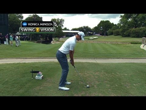 A closer look at Adam Scott's tee shot at Crowne Plaza