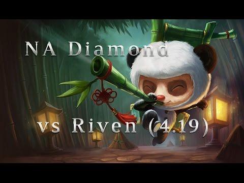 NA Diamond Teemo TOP vs Riven Season 4 (4.19) League of Legends LoL Pro SoloQ