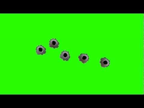 Gun Bullet Holes - Green Screen Animation