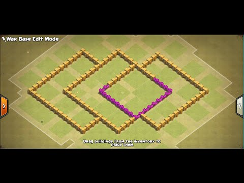 Th6 war base , Anti 3star,Anti Giant,Anti Drag With Air Sweeper