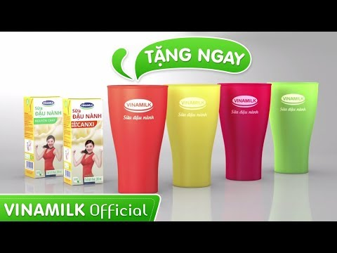 Quảng cáo Vinamilk - Sữa đậu nành Vinamilk 2015 (khuyến mãi ly cao cấp)