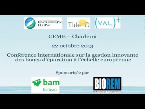 Conférence internationale sur la gestion innovante des boues d'épuration à l'échelle européenne