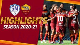 PRIMA DOPPIETTA PER LAZARO | San Marino 2 - 3 Roma | Serie A Femminile Highlights 2020-21