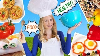 How to Cook Healthy Food! 10 Breakfast Ideas,  Lunch Ideas & Snacks for School, Work!
