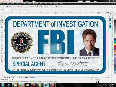 fbi badge template