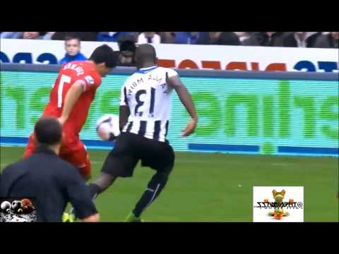 Horrible Refereeing Costs A Red Card For Yanga-Mbiwa vs Liverpool 19/10/2013HD