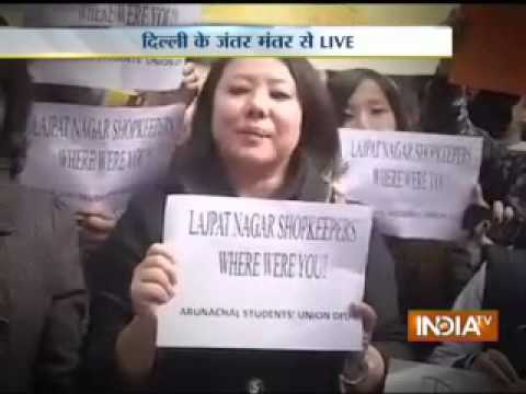 India TV debate on racial attacks against people from Northeast, Part 1
