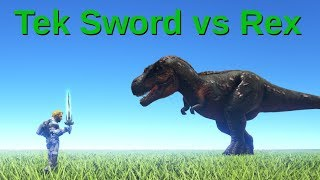 Tek Sword vs Rex (Tek Sword update!) || ARK: Survival Evolved || Cantex