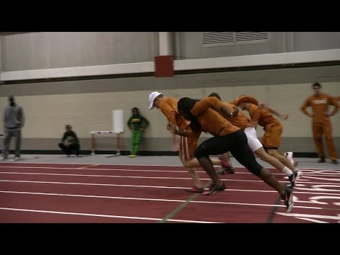 Practice day at Big 12 Indoor Track & Field meet [Feb. 27, 2014]