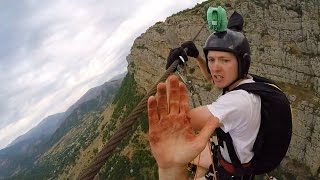 Zip-line Base Jump Is All The Adrenaline you need for today