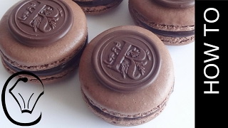 Monogram French Macarons Double Chocolate by Cupcake Savvy's Kitchen