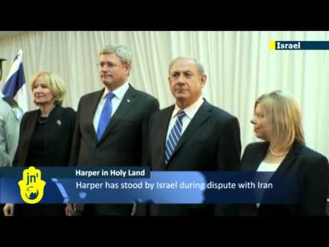 Harper in Israel: Canadian PM lauded by Netanyahu for support for Jewish State