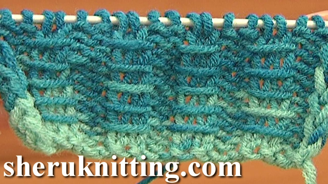 Knitting Rib Stitch For Beginners : Two By Two Ribbing With Bars Knitting Tutorial 10 Free Knitting Stitch Patter...