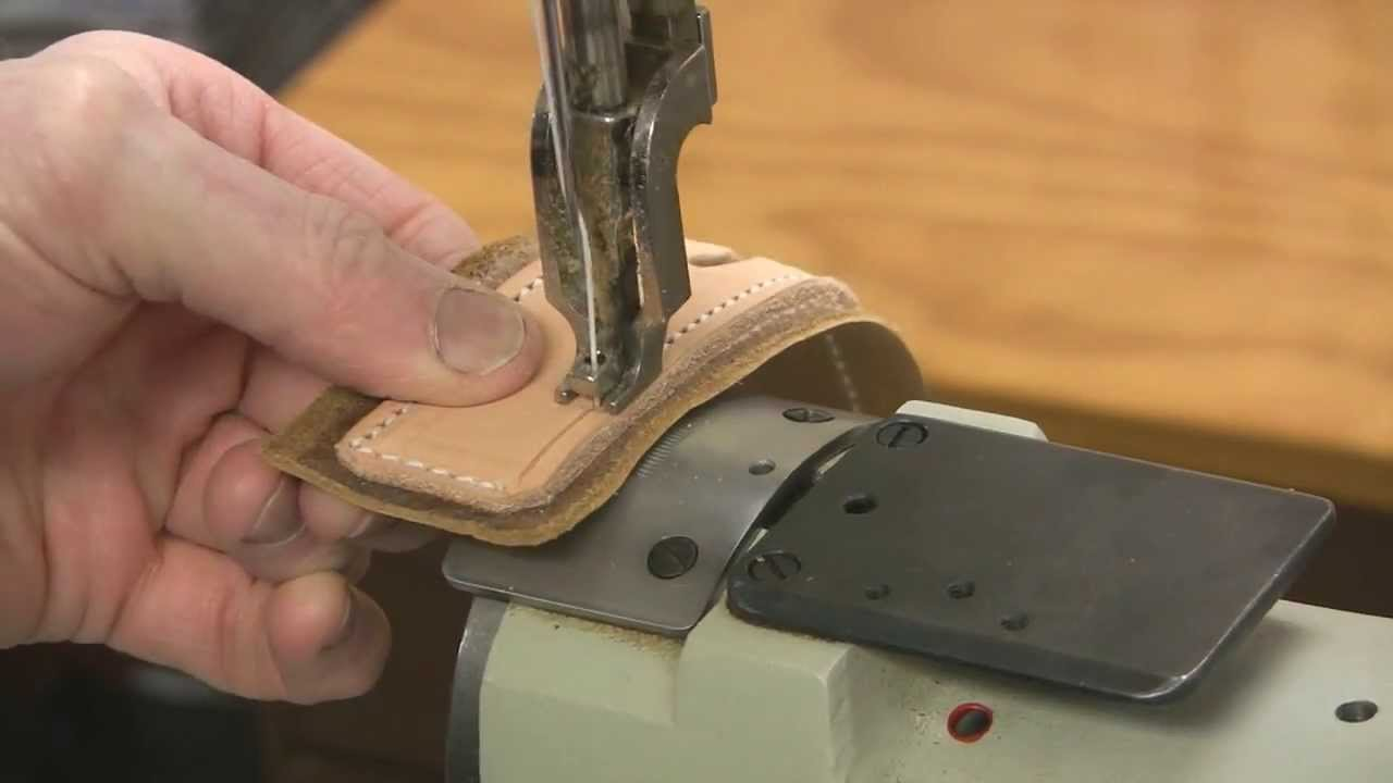 Leather sewing machine - YouTube