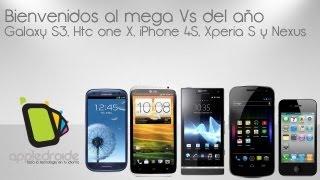 Mega Vs De Galaxy S3, HTC One X, Iphone 4S, Sony Xperia S