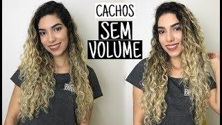 Como diminuir volume no cabelo cacheado