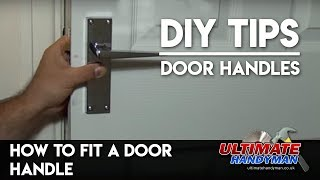 How to fit internal door handles