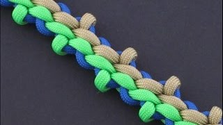 How To Make The Wide Wheat Stalk Braid (Paracord) Bracelet