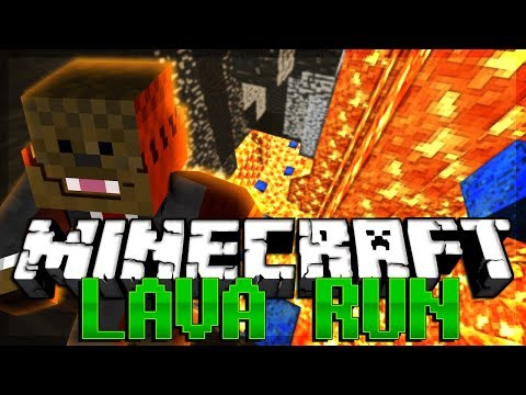 Minecraft LAVA RUN PARKOUR RACE w/ BajanCanadian