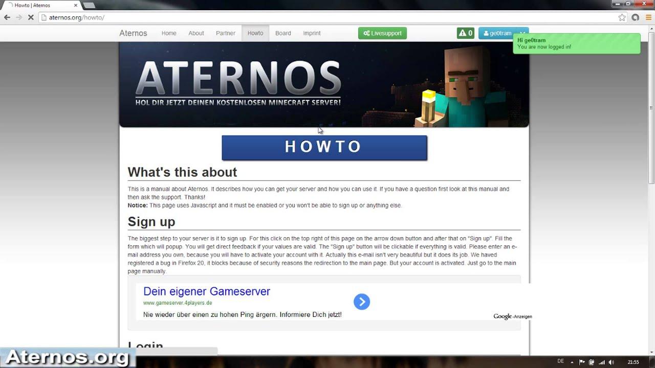 Aternos Down - Minecraft server erstellen mit aternos