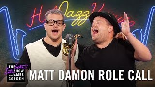 Matt Damon Acts Out His Film Career With James Corden